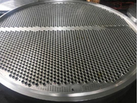 内孔焊管板钻孔加工